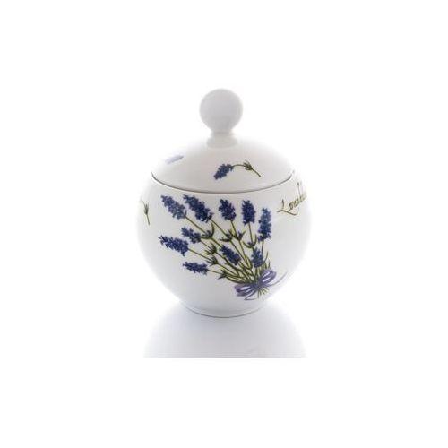 Lubiana Cukiernica lawenda porcelanowa biała