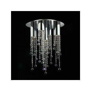 Plafon LAMPA sufitowa LARIX MX93708-5A Italux kryształowa OPRAWA glamour crystal chrom przezroczysta, MX93708-5A