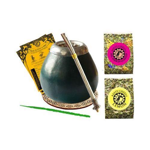 Zestaw startowy Yerba Mate Green 2x50g + bombilla + matero + podkładka + czyścik