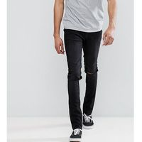 Cheap Monday TALL Tight Black Skinny Jeans with Knee Rip - Black