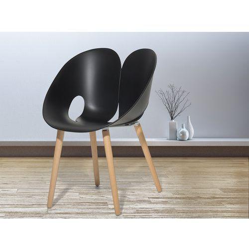 Krzesło czarne - Krzesło do jadalni, do salonu - krzesło kubełkowe - MEMPHIS - produkt z kategorii- Krzesła