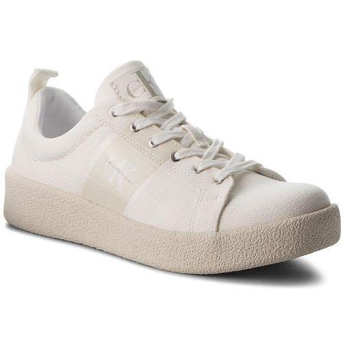 Sneakersy CALVIN KLEIN JEANS - Gerardo Twill S0528 Off White, kolor biały