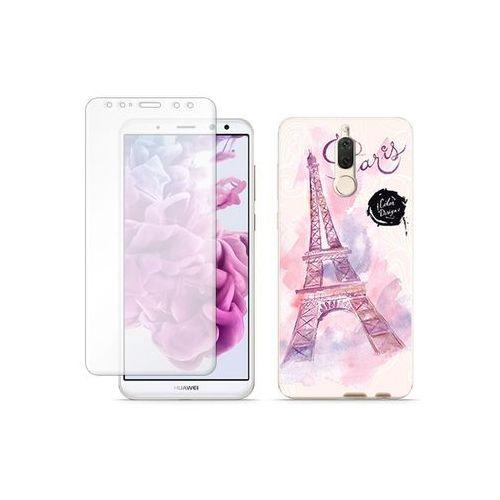 Huawei Mate 10 Lite - etui na telefon Full Body Slim Fantastic - różowa wieża eiffla, ETHW618FBSFFC104000