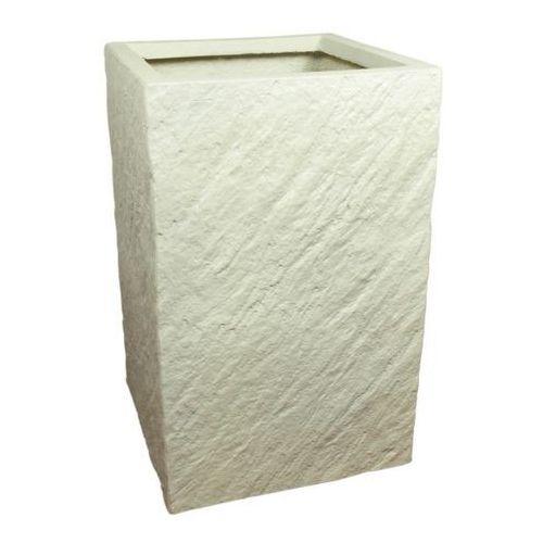 Donica kompozytowa Cermax kwadratowa 24 x 24 x 38 cm biały (5908511282531)