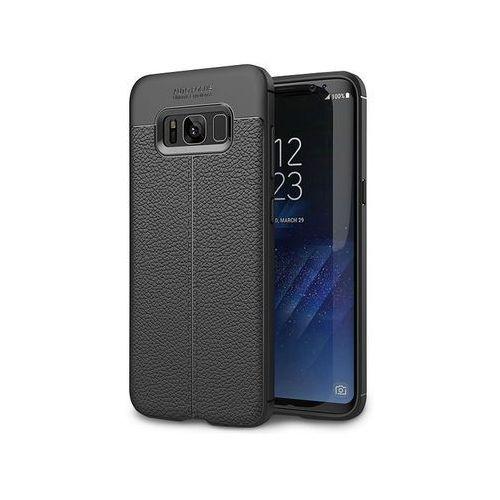 Etui pancerne Alogy leather case TPU - Galaxy S8 czarne + Szkło