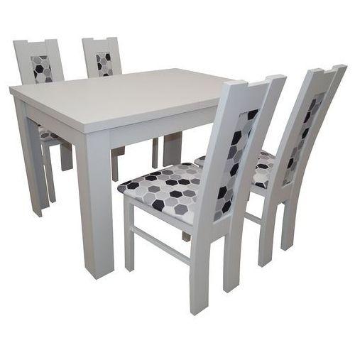 Biały rozkładany stół z 4 krzesłami okazja marki Sandow