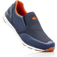 Buty sportowe wsuwane lico ciemnoniebiesko-pomarańczowy marki Bonprix