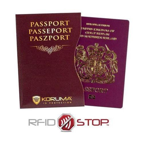 Koruma® ✅ etui z ochroną paszportu biometrycznego rfid (brązowy) koruma - kasztan (5903111394547)