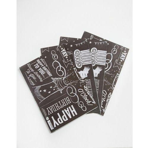 Brainbox Candy Chalk Gift Wrap 4 Sheets - Multi - sprawdź w wybranym sklepie