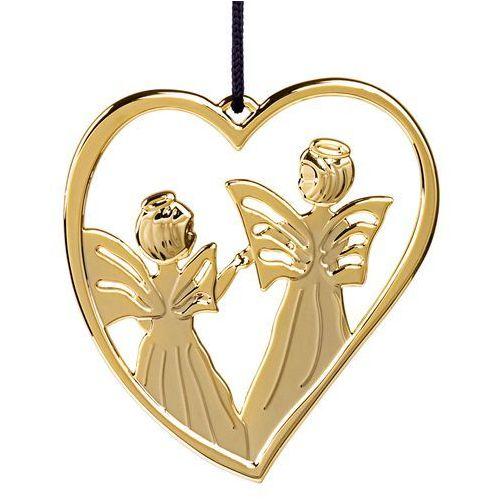 Ozdoba świąteczna Rosendahl Karen Blixen serce z aniołami złote