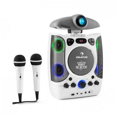 KaraProjectura zestaw karaoke z projektorem gra świateł LED USB biały