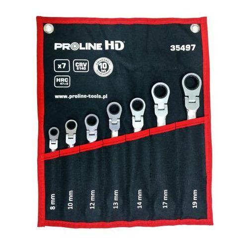 PROLINE HD Zestaw kluczy przegubowych płasko - oczkowych z grzechotką 35497 (5903755354976)