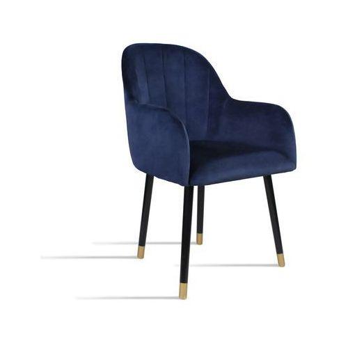 Krzesło BESSO granatowy/ noga czarny gold/ SO263