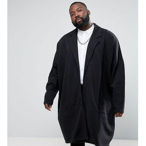 Asos plus extreme oversized extreme longline jersey duster jacket - black