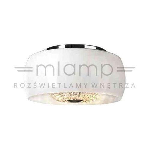 Plafon lampa sufitowa lexus 400 pl bianco szklana oprawa quince z kryształkami crystal biały marki Orlicki design