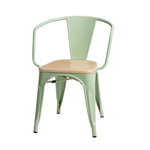 D2.design Krzesło paris arms wood sosna naturalna - zielony