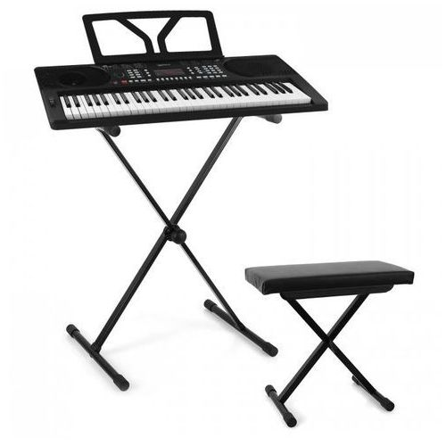 Schubert etude 300 zestaw muzyczny z keyboardem, stojakiem i ławą czarny marki Elektronik-star