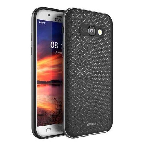 Etui iPaky Premium Hybrid Samsung Galaxy A3 2017 Gray + Szkło, kolor szary