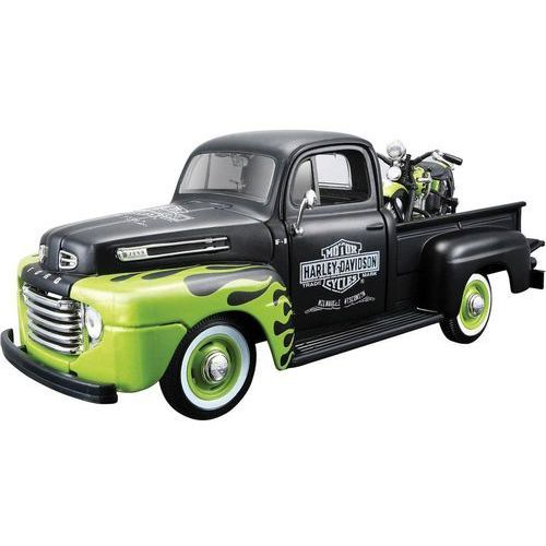 Model samochodu Ford Pick Up F1 '48 i model motocykla FL Panhead Harley Davidson, 1:24 Maisto