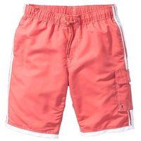 Bermudy plażowe Regular Fit bonprix jasnoczerwony, kolor czerwony