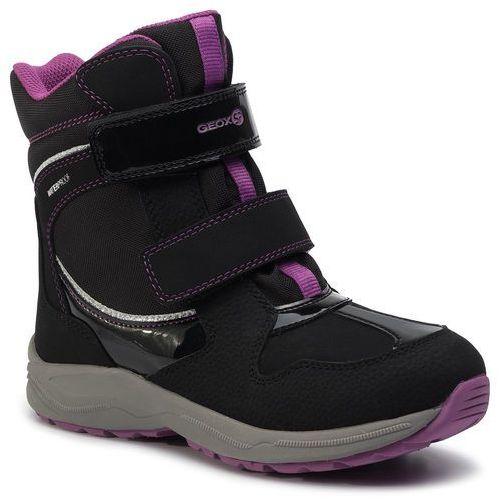 Geox Śniegowce - j n.alaska g.b wpf a j948ba 050fu c9233 s black/violet