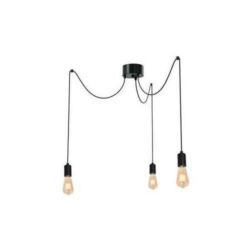 Luminex spindel 3953 lampa wisząca zwis 3x60w e27 czarny (5907565939538)