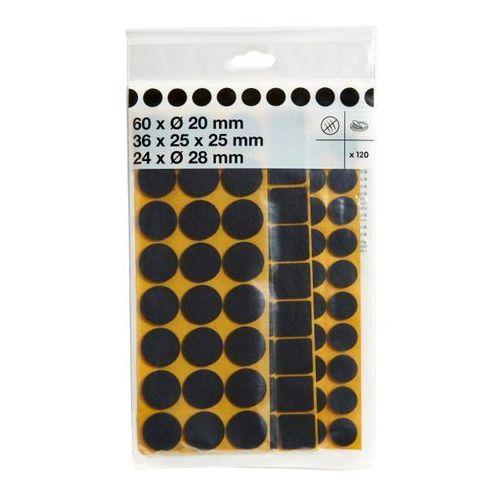 Diall Podkładki filcowe samoprzylepne różne brązowe 120 szt.