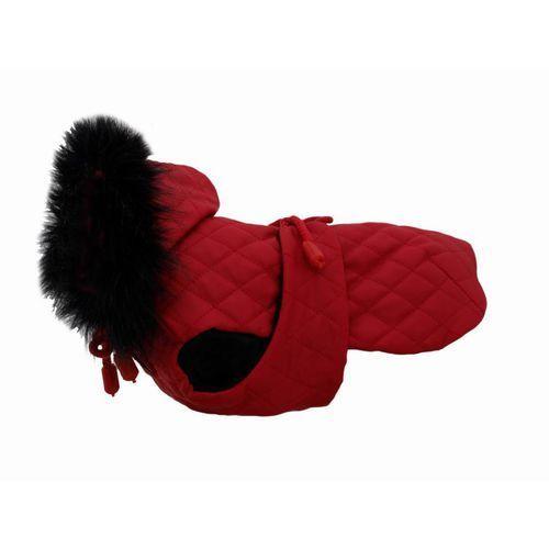 Grande finale dw12 derka dla psa czerwona alaska z futerkiem końcówka kolekcji