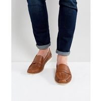 Kg by kurt geiger woven loafers in tan leather - tan, Kg kurt geiger