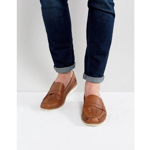 Kg by kurt geiger woven loafers in tan leather - tan, Kg kurt geiger