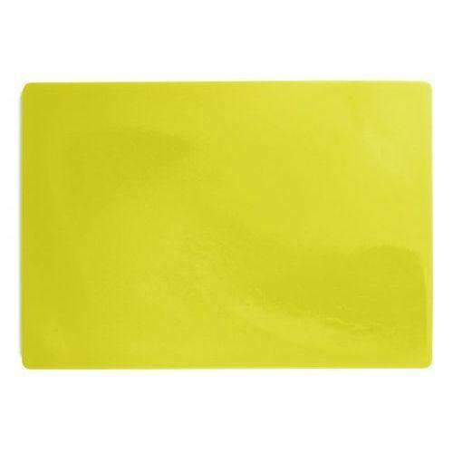 Deska polietylenowa HDPE do krojenia, HACCP, żółta, wymiary 49,5x35x2 cm, XANTIA 78557