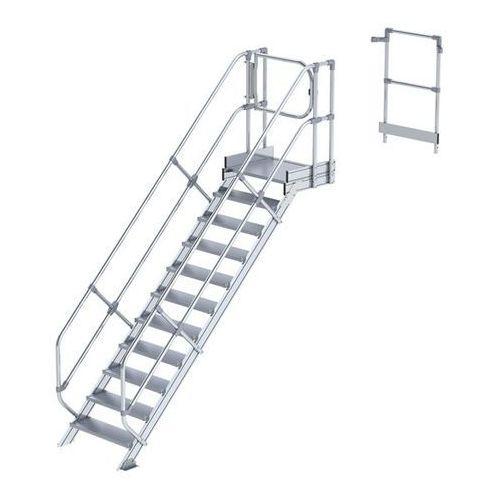 Przemysłowy pomost roboczy, moduł do schodów, 10 stopni. najwyższa elastyczność marki Günzburger steigtechnik