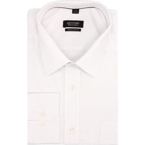 koszula versone 9001 długi rękaw regular fit biały, kolor biały