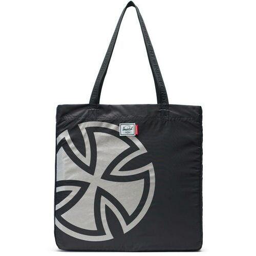 torba HERSCHEL - New Packable Tote Black (02572) rozmiar: OS, kolor czarny