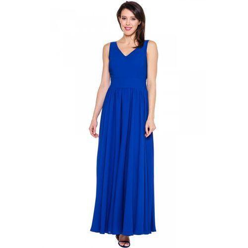 Szafirowa suknia wieczorowa - Bialcon