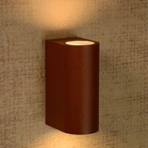 Lucide Boogy-kinkiet zewnętrzny 2 źródła metal wys.15cm