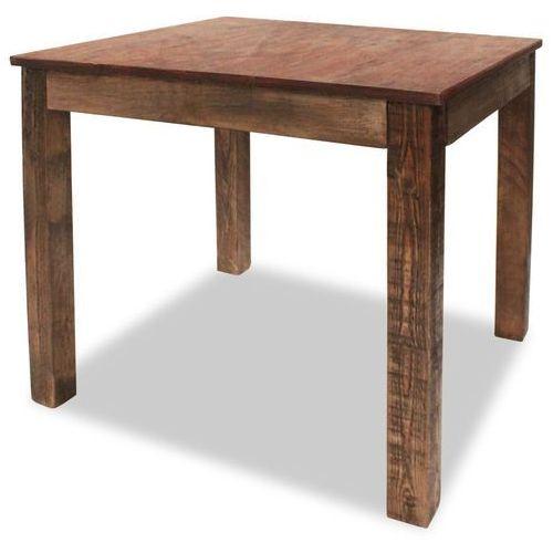 Vidaxl stół do jadalni, lite drewno z recyklingu, 82x80x76 cm
