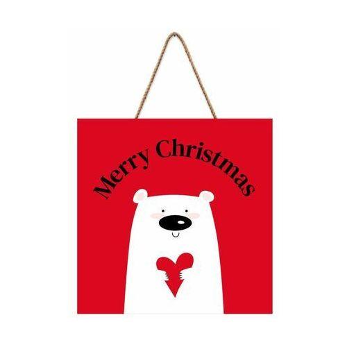 Tabliczka świąteczna Miś 30 x 30 cm (5901554536654)