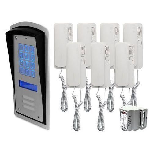 Radbit Zestaw 7-rodzinny panel domofonowy wielorodzinny z szyfratorem brc10 mod