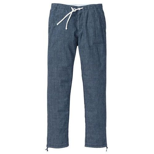 Spodnie dresowe melanżowe pastelowy jasnoróżowy - antracytowy melanż marki Bonprix