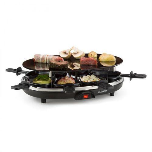 blackjack grill raclette 8 osób szkło ceramiczne stal nierdzewna czarny marki Klarstein