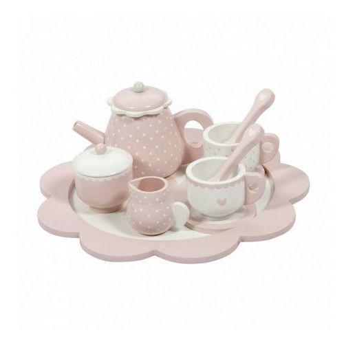 Tea Set - Drewniany zestaw do herbaty - Różowy - Little Dutch