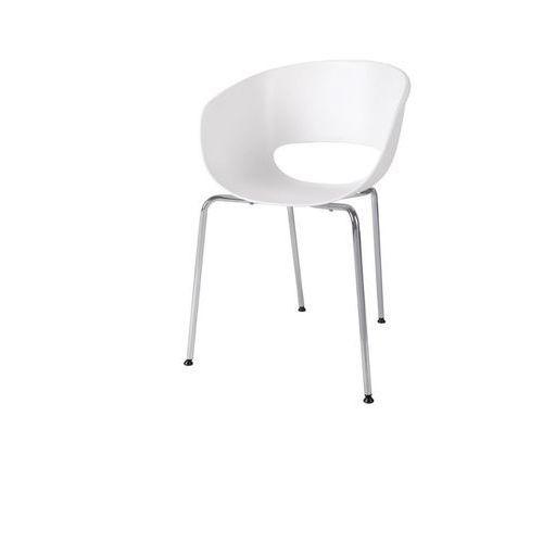 Krzesło Shell, kolor biały
