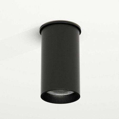 Downlight LAMPA sufitowa ARIDA 1109 Shilo reflektorowa OPRAWA do łazienki tuba czarna, kolor biały;czarny