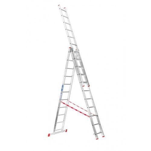 B2b partner Trzyczęściowa aluminiowa drabina hobby, 3x11 stopni, 6,75 m