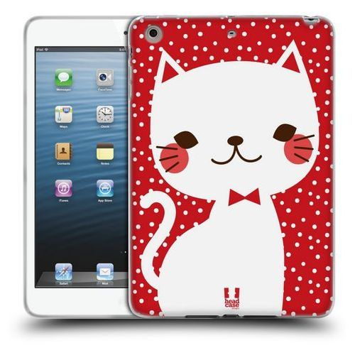 Etui silikonowe na tablet - Cats and Dots White Cat in Red