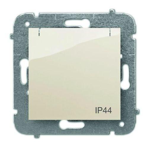Elektro Plast Carla Gniazdo 2P+Z IP44 z przesłonami torów prądowych Kremowy - 1736-11, towar z kategorii: Gniazdka