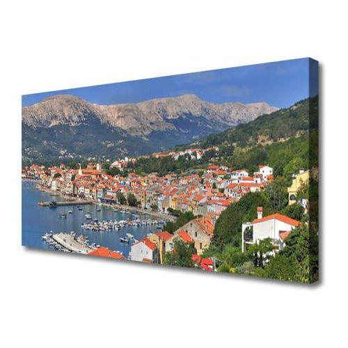 Obraz na Płótnie Miasto Góra Morze Krajobraz