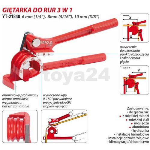 Yato Giętarka do rur 6-10mm / yt-21840 / - zyskaj rabat 30 zł (5906083218408)