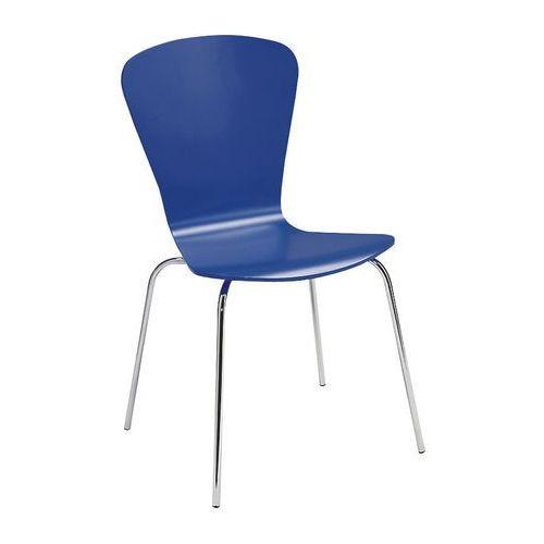 Krzesło z giętkiej sklejki kolor: chabrowy marki Aj